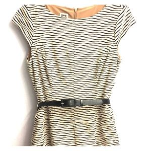 Striped dress with liner Heavy for winter